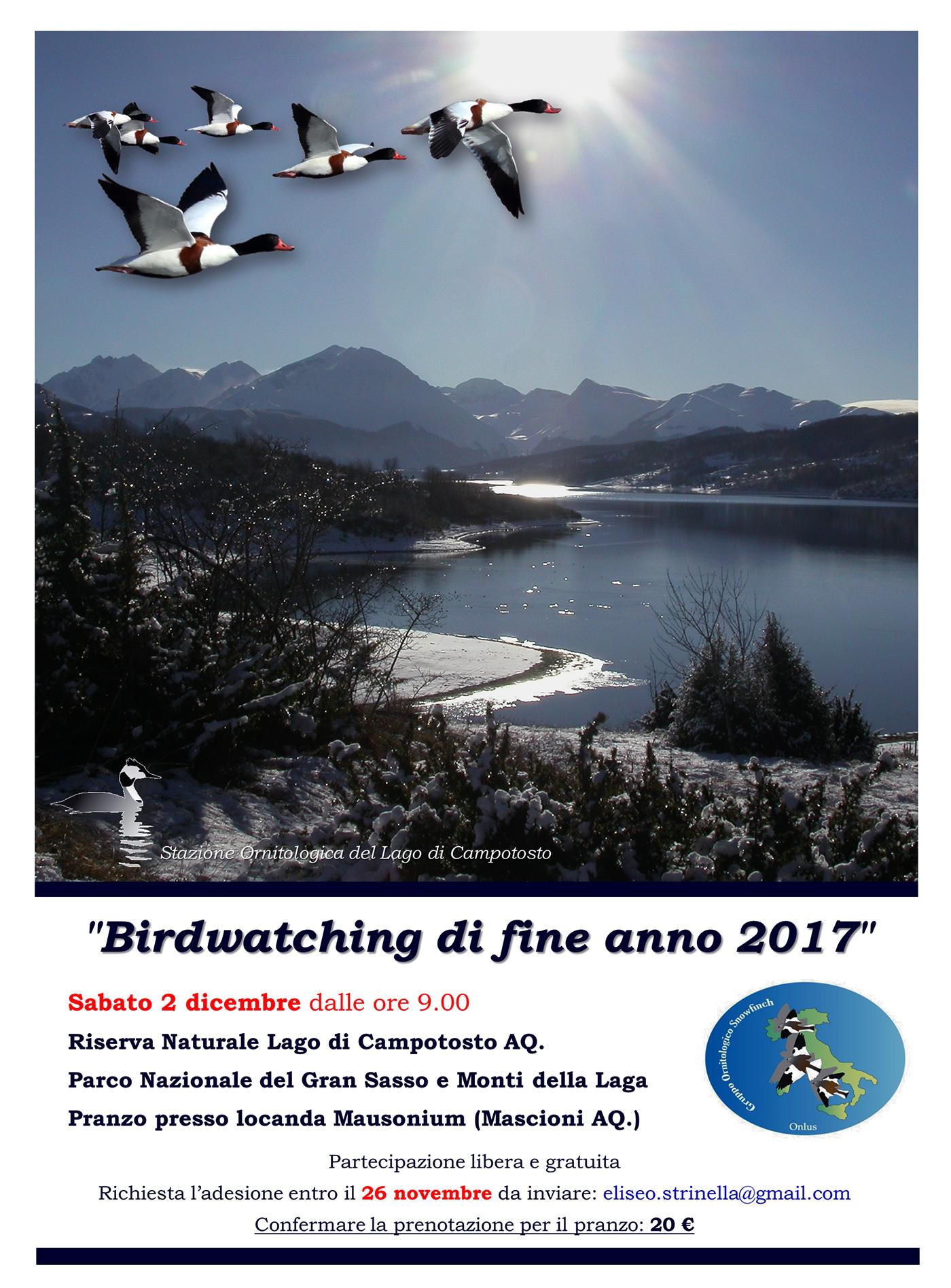 Bw-fine anno 2017 (Riserva Lago di Campotosto)
